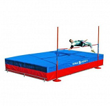 Physical education high jump landing system