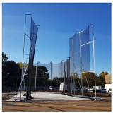 IAAF galvanized steel hammer cage with ground sleeves