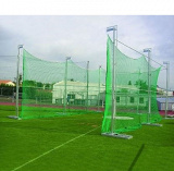 Portable galvanized steel discus cage