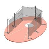 Portable aluminium discus cage