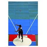 Indoor shot put throwing landing system