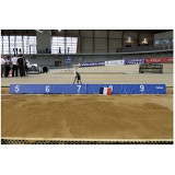 Distance indicator board in foam for long jump