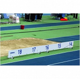 PVC distance indicator board for triple jump