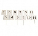 Short throwing distance field markers set of 12