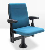 Armchair with synchronic folding of the seat and armrest